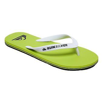 Quiksilver Molokai Flip Flops - Black / Green / Green