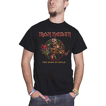 Logo de groupe Iron Maiden T Shirt livre des âmes Eddie Circle nouvelle officiel Mens Black