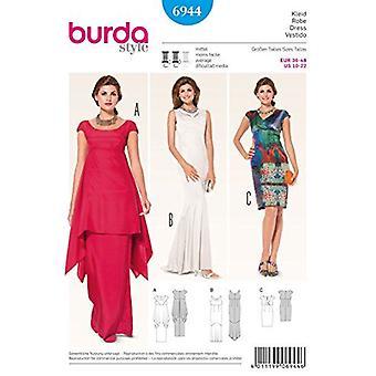 Burda Sy mønster 6944 savner kjole størrelse 10-22 E 36-48