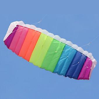 regnbue dobbel linje, kitesurfing stunt fallskjerm, myk, parafoil surfing kite,