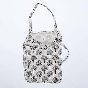 1 Pc Cotton Canvas Floral Handmade Handbag File Bag Students Stationery