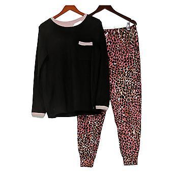 Cuddl Duds Dames's PJ Set Fleecewear Stretch Jogger Roze A381825