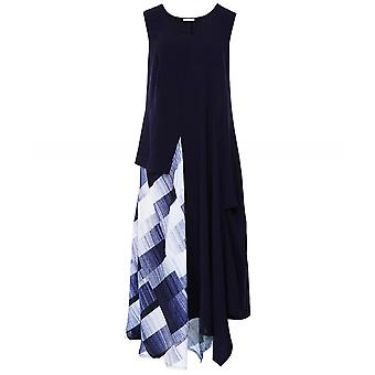 Crea Concept Contrast Print Midi Dress