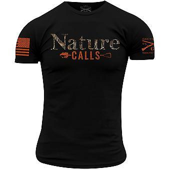 Grunt Style Realtree Edge - Natur ruft T-Shirt - schwarz