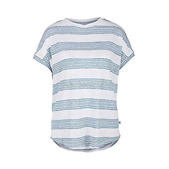 Q/S designed by T-Shirt, White (01G0 White Stripes), XL Woman