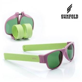 Sunfold - Sunglasses, Men's Glasses, Rollable, Pastel, Men's, IG113393, Purple and Green, One Size