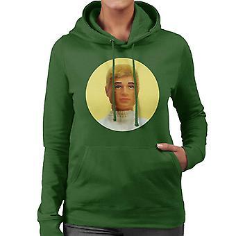Action Man Blonde Hair Women's Hooded Sweatshirt