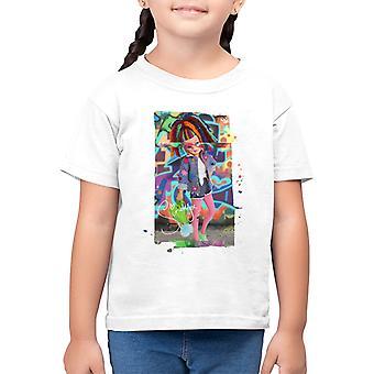Sindy yllään kukkatakki Lasten t-paita