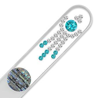 Mont Bleu Ornement Cristal Lime à Ongles LE-4 - Zircon Bleu - Cristal
