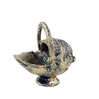 Dolls House Antique Brass Coal Skuttle Bucket Miniature 1:12 Accessoire cheminée