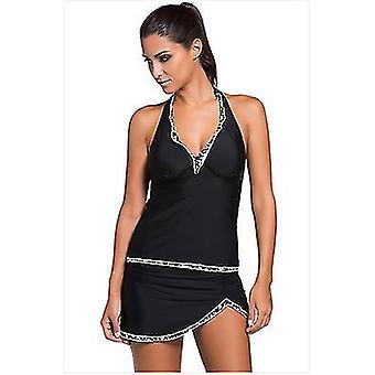 S czarne stroje kąpielowe dla kobiet dwuczęściowy kostiumy kąpielowe z bikini bottom x4981