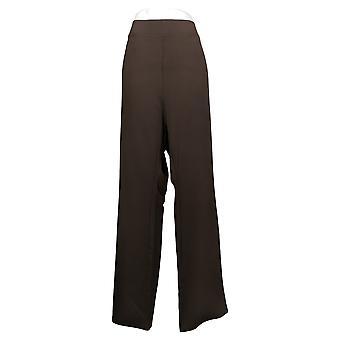 IMAN Global Chic Pantalones de Mujer 360 Slim Ponte Boot-Cut Brown 722609208