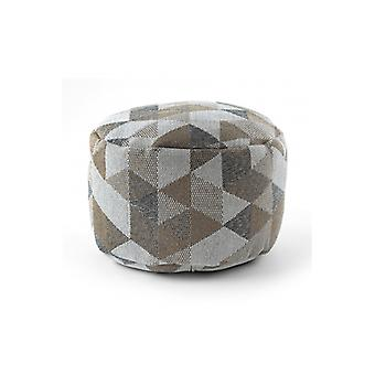 Pouffe CYLINDER 50 x 50 x 50 cm Boho 2816 footrest, for sitting cream / taupe