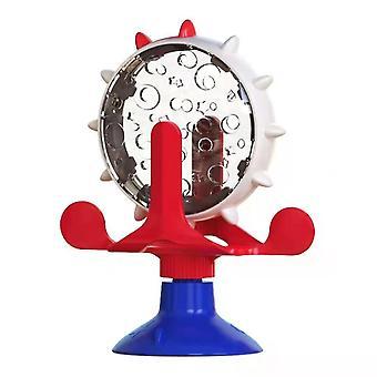 Punainen lemmikki toimittaa lemmikkieläinten syöttölaite tuulimylly kissa koira lelu automaattinen syöttölaite dt7789