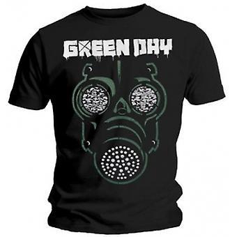 Green Day Green Mask Mens Black T Shirt: X Large