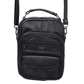 Soft Leather Commuters Cross Body Bag