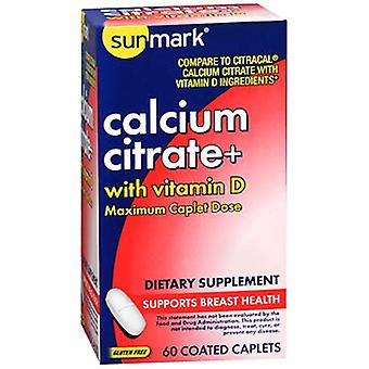 Sunmark Sunmark Calcium Citrate + With Vitamin D Caplets, 60 Tabs