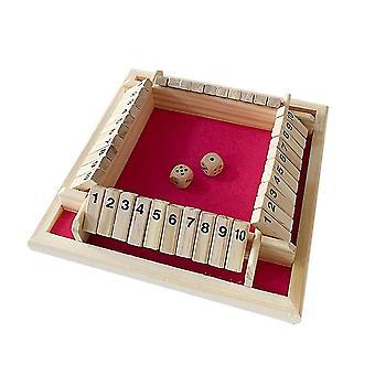Four Side Flop Game Number Spel Speelgoed Ouder-kind Bordspel (Rood)