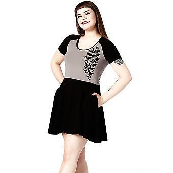 Sourpuss Clothing Nokturnal Bats Raglan Skater Dress