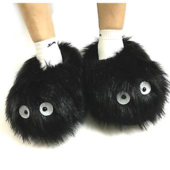 Totoro Dust Warm Lovely Non-slip Anime Slippers Home Thickened Plush Slippers Free Size 28cm