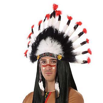 Indická čelenku Čierna Biela