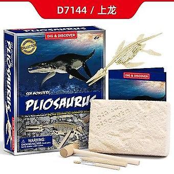 Diy archeologische opgraving jurassic dier model skelet skelet dinosaurus skelet fossiele dinosaurus graven speelgoed geschenken voor kinderen