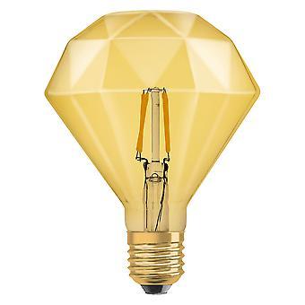 Osram LV091955 1906 LED 40W Vintage Filament Gold Glass Diamond ES Bulb