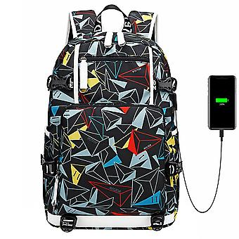 Casual College Rucksack Backpack With Usb Port