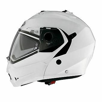Caberg Duke II Metall Full Face Motorcykel Hjälm Hi-Vis Reflekterande Vit