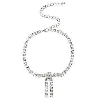 Kobiety Naszyjnik Bow Alloy Diamond Rhinestone Full Diamond Pendant Kobiety Naszyjnik Chocker na imprezę
