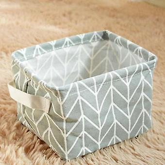 (Gray (Arrows)) Foldable Square Oxfords Canvas Storage Collapsible Folding Box Fabric Toy Basket