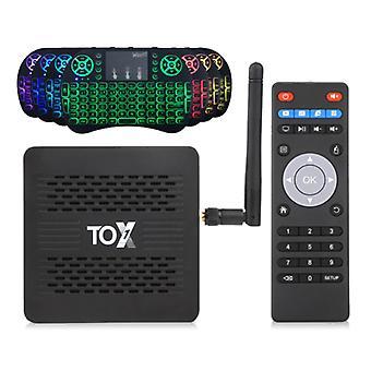 Vontar TOX1 TV Box Media Player Android 9.0 Kodi s bezdrôtovou RGB klávesnicou - Bluetooth 4.2 - 4K - 4GB RAM - 32GB Úložisko