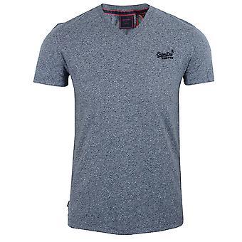 Superdry miesten tois sininen grit kirjailtu logo t-paita