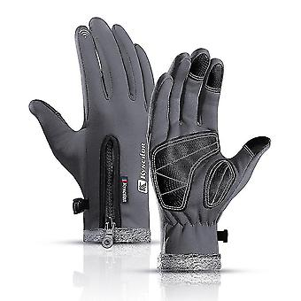 Grey m winter cycling gloves snowboard gloves waterproof windproof snow gloves for skiing shoveling lc525