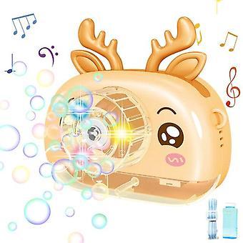 Seifenwasser Blasenkamera Kinder Elektrische Blasenmaschine Cartoon Schweinchen Blasengebläse (Gelb)