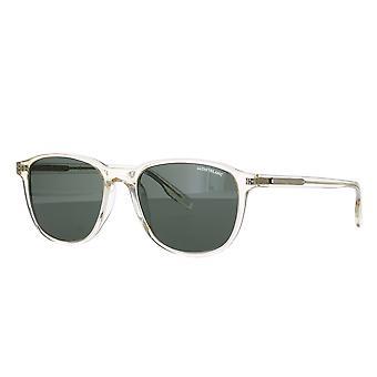 Montblanc MB0149S 003 Gule/Grønne Solbriller