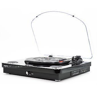 GBTUR-120BK – Tocadiscos Color Negro, Bluetooth,