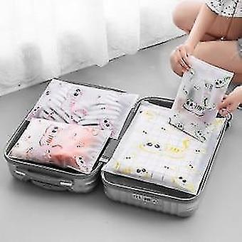 Ensemble de 7 pièces de cubes et de pochettes d'organisateur de voyage d'emballage de bagages (ensemble de 5 pièces)