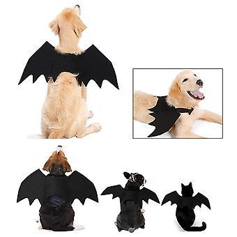 Katze und Hund Halloween Kostüm Fledermaus Flügel Vampir Schwarz Fancy Haustier Kostüm Cosplay Halloween Kostüm Haustierbedarf