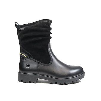 Tamaris 26470 001 Black Leather Womens Mid Calf Boots