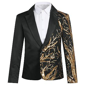 Mile Boy's Single-breasted Suit Jacket Sequined Casual Slim Coat Used For Performance Wedding Ceremony
