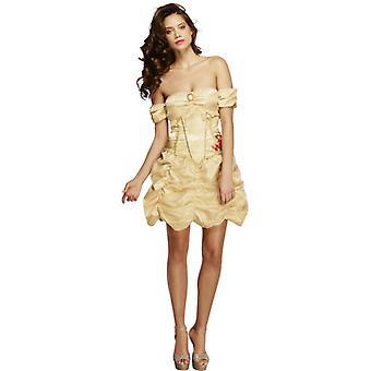 Coleção de febre traje de princesa dourada com vestido tamanho M