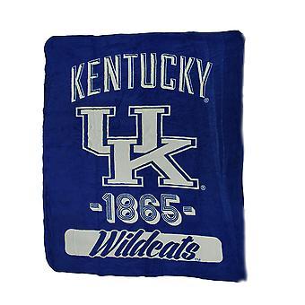 NCAA UK Kentucky Wildcats Micro Raschel Plush Throw Blanket 46 x 60 inch