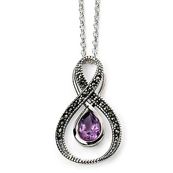 925 Silver Marcasite And Amethyst Necklace Trend