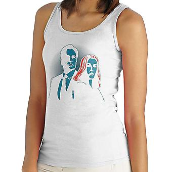 Truth Seekers Mulder and Skully X Files Women's Vest