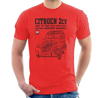 Haynes Owners Workshop Manual Citroen 2CV Black Men's T-Shirt