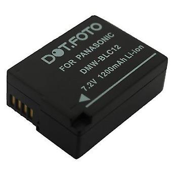Dot.Foto Panasonic DMW-BLC12, DMW-BLC12E erstatningsbatteriet - 7,2 v / 1200mAh