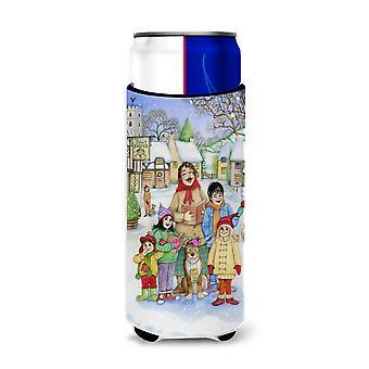 Christmas Carol cantanti Ultra bevanda isolatori per lattine slim