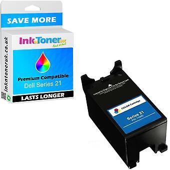 Compatible Dell serie 21 color cartucho de tinta (y499d)