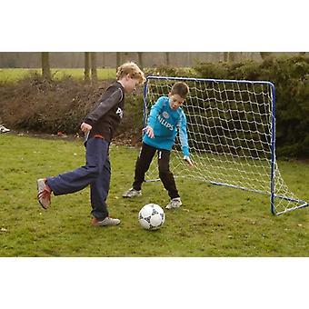 Straf Zone blå stål børn fodbold mål med Net fodbold mål Home Garden